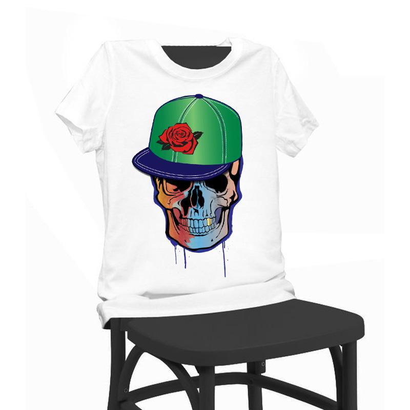 444bc96c2ac Women Lady Girl Hip Hop Skull Print Beauty T-shirt Funny T Shirts ...