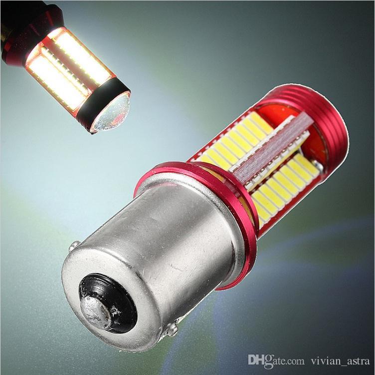 Fren Lambaları Oto Gündüz Işık Koşu İçin 1156 BA15S 1157 BAY15d 7440 7443 T15 5W 1200LM Canbus 78 LED Araç Ampul