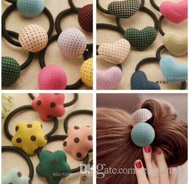 South Korea's dot of love button hair bands hair rope hair accessories many styles mix delivery