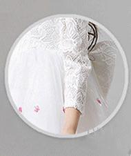 2018 Девушки derss элегантный с длинным рукавом теплый пузырь новый шаблон милый прекрасный контракт мягкий театрализованное платья тюль Раффлед принцесса платье фея