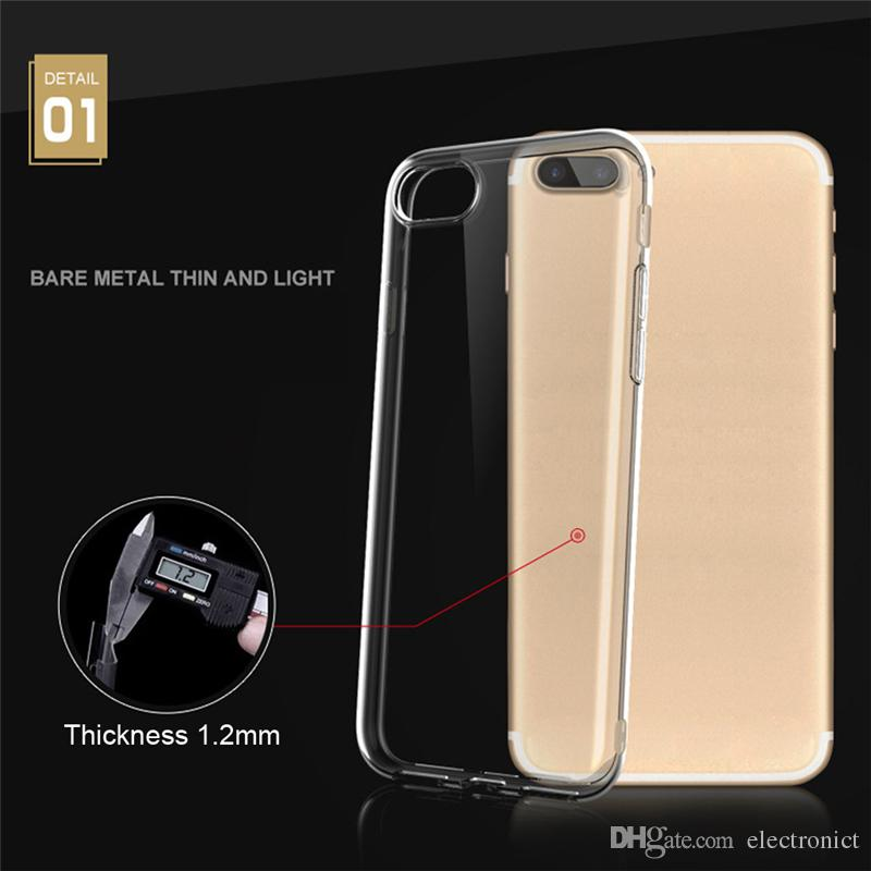 Case For Apple iPhone x case Soft Silicone Transparent TPU For iphone x 5s 6s 7 7plus 8 Case Back Cover