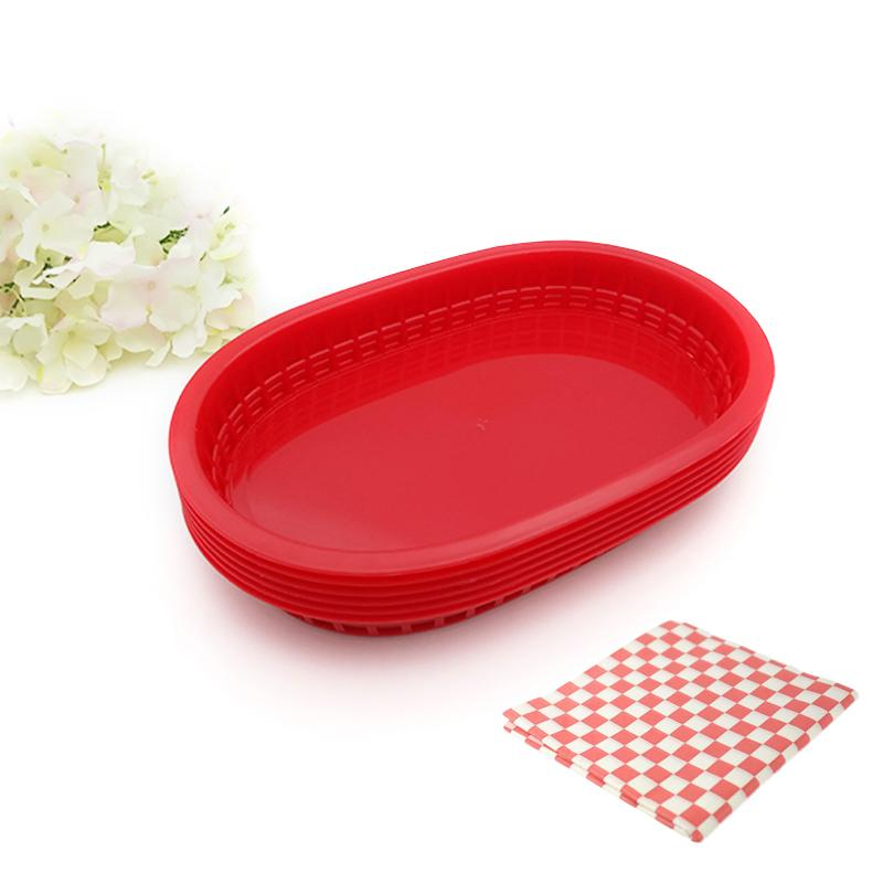 2018 New 10.5u0027u0027 Large Plastic Fast Food Platter Basket Checked Wax Coated Paper Dinner Plates Serving Food Tray Restaurant From Kelly2017 $26.47 | Dhgate.  sc 1 st  DHgate.com & 2018 New 10.5u0027u0027 Large Plastic Fast Food Platter Basket Checked Wax ...