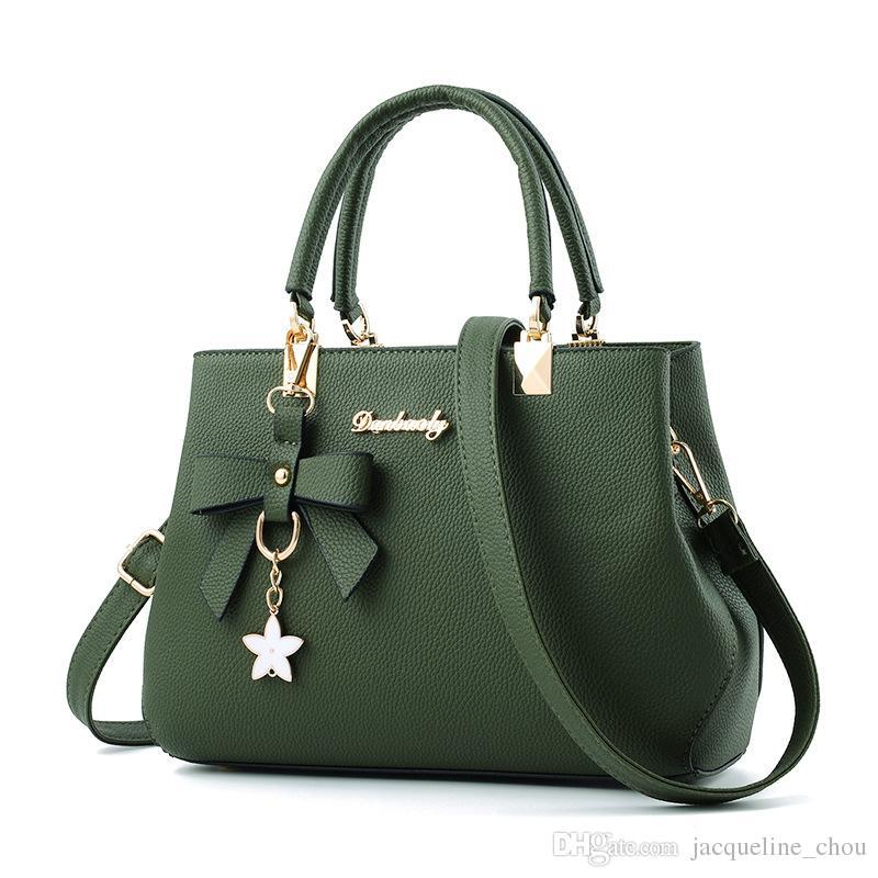 Women Fashion Large Handbags Korean Style PU Leather Leisure One ... 7766fd8080d29