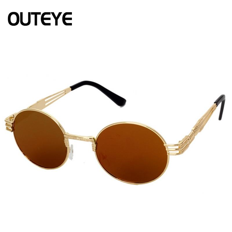 395a958c7e Wholesale- Luxury Metal Sun Glasses For Men Women 2017 Brand Designer  Sunglass Steampunk Mirror Glasses Vintage Retro Round Sunglasses Sunglasses  Ruby ...