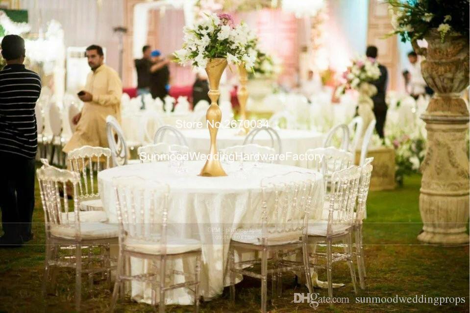 New Style Wedding Gold Tall Centerpiece Stands Metal Wedding Flower