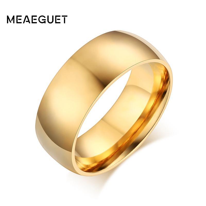Grosshandel Meaeguet Klassische Gold Farbe Ring Edelstahl Coole