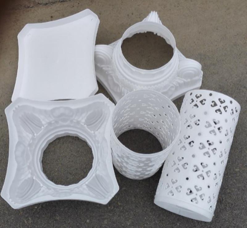 Diseño de flor hueca Columnas romanas Color blanco Pilares de plástico Cita Apoyos de la boda Evento Decoración Suministros 10 unids / lote