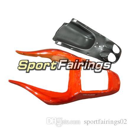 Carénages d'injection complet pour Yamaha YZF600 YZF R6 98 99 00 01 02 Plastics ABS Carénage Kit Carénage Capots Orange Plat Noir Couvertures NOUVEAU