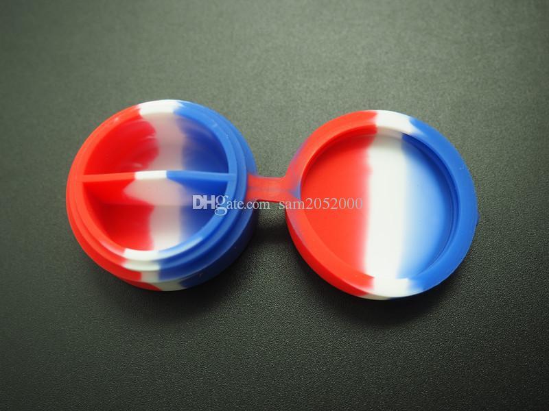 10Xwholesale дешевый non-ручки силикона контейнер банки даб воск испаритель масло контейнер