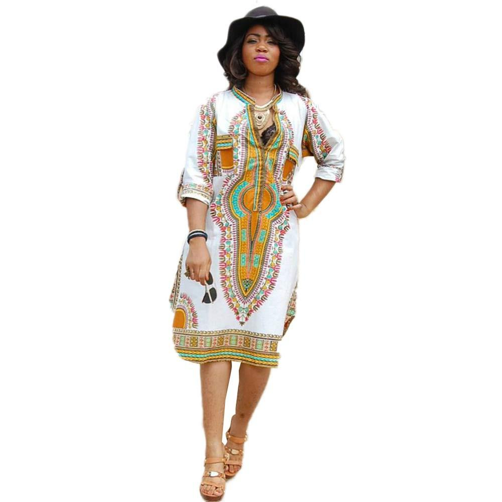 Women Traditional African Print Party Dress New Design Dashiki Dress