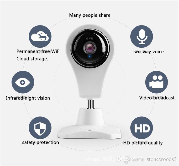Acquista Cctv Mini Telecamera Di Sicurezza Ip Di Wifi Dvr Telecamera  Nascosta Monitor Di Visione Notturna A Raggi Infrarossi Del Bambino Sistema  Di ...
