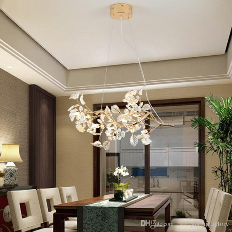 Discount Led Restaurant Lamp Crystal Pendant Light Modern Minimalist Living Room Dining Bar Table Beauty Salon Lights