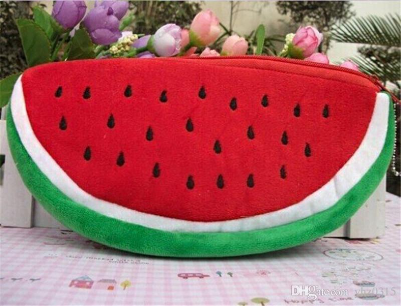 2017 New Style Big volume watermelon school kids pen pencil bag case gift Pendant cosmetics purse wallet holder pouch school supplies