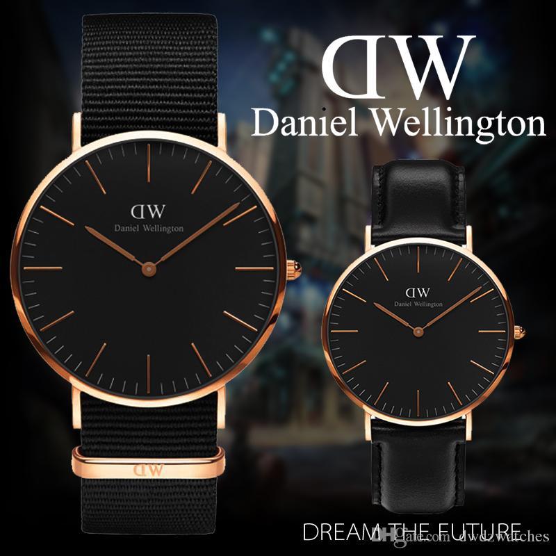 99fd5663910e Compre Nuevos Relojes Daniel 40mm Hombres Relojes 36mm Mujeres Relojes De  Lujo Reloj De Cuarzo Reloj Femenino Relogio Montre Femme Relojes De Pulsera  A ...