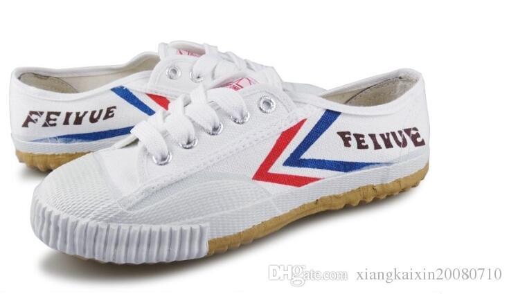 dorp shipping Scarpe sneaker Feiyue in canvas ultraleggero uomo e donna, kung fu, arti marziali e sport casual Classic black and white
