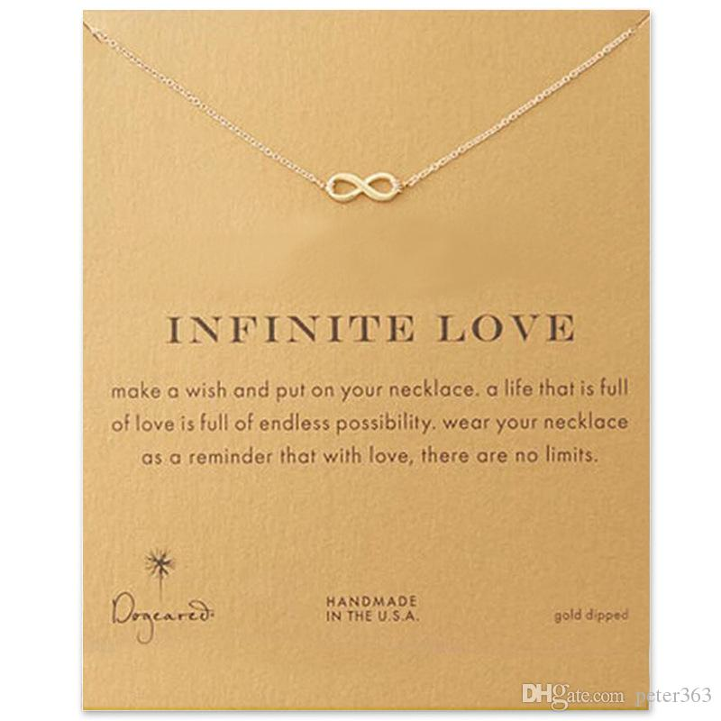 Wholesale infinity love pendant necklaces clavicle chain necklace wholesale infinity love pendant necklaces clavicle chain necklace jewelry for women gold silver alloy pendants with card amber pendant necklace unique aloadofball Image collections