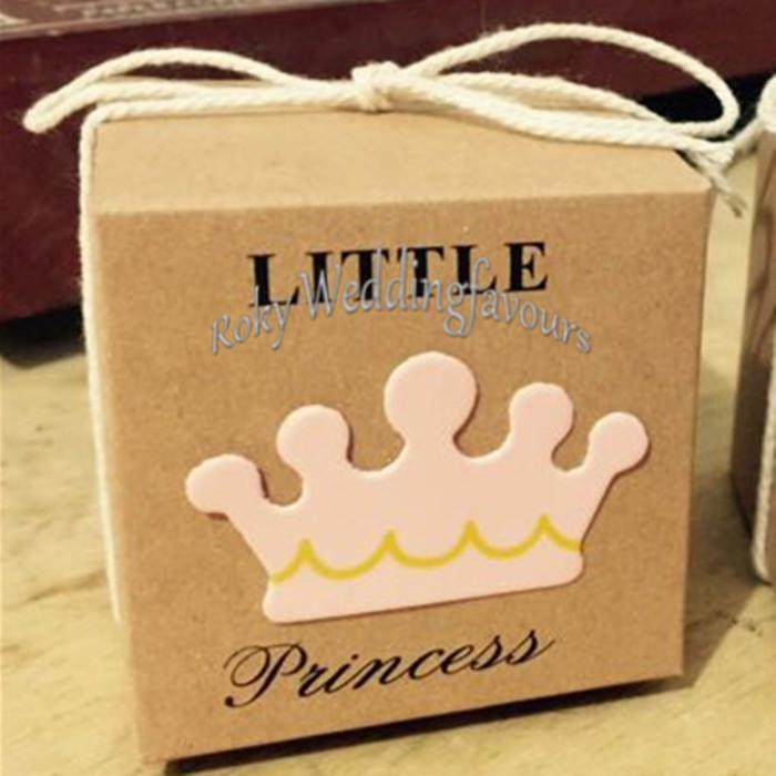 Crown Little Prince Favor Boxes Baby Shower Kids Birthday Party Candy Boxes Children's Days Party Keepsake
