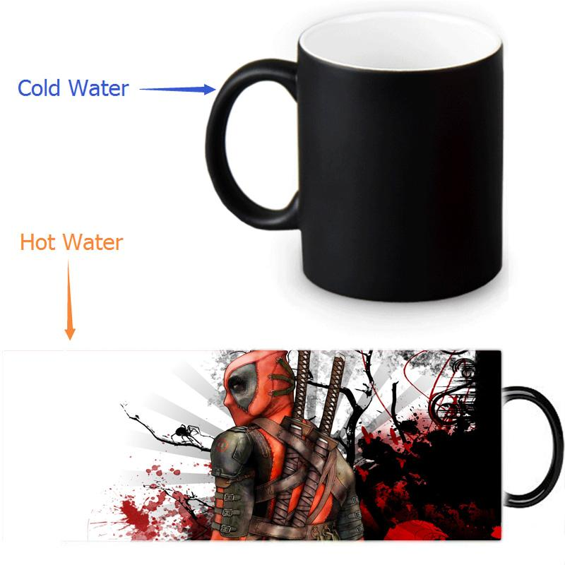 a52a5adadbb Wholesale Deadpool Custom Made Design Water Coffee Mug Novelty Gift Mugs  Morphing Ceramic Cup 12 OZ Office Home Cups Coffee Travel Mugs Personalized  Collage ...