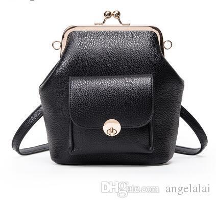 98ea4b13e137 Top Fashion Frame Women s Handbag Solid Girls Messenger Bag Small ...