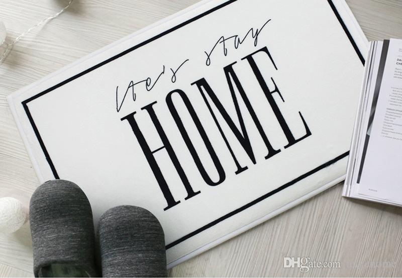 """40x60cm Door Mats - Entrance Door """"HOME"""" Words Pattern Carpets Living Room Dust Proof Mats Bathroom Bedroom Non-slip Mat Home Decor"""