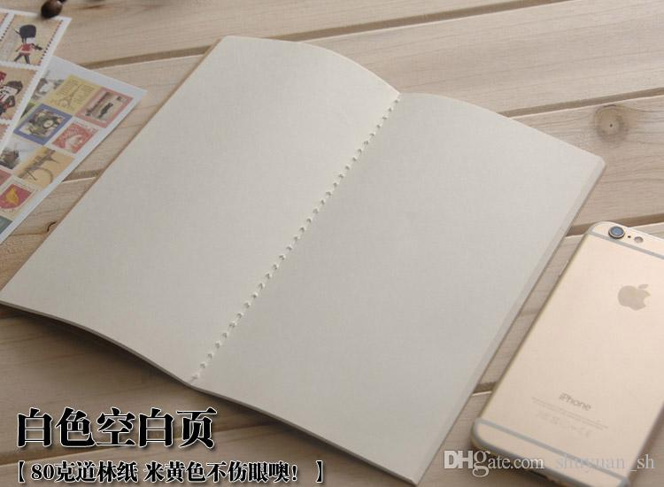 LY-IN01 TN traveller's notebook inserts notepads blank dot grid kraft to do list insert refillable inserts 80g paper