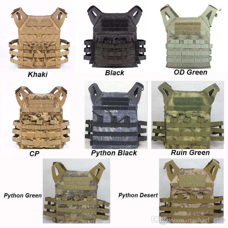 Tactical JPC Placa Transportadora Colete Munição Revista Chest Rig Vest Airsoft Paintball Corpo Engrenagem MOLLE Sistema Wargame CS Body Armor JPC Colete