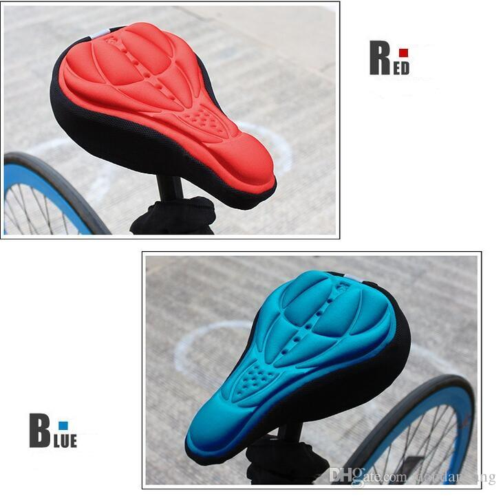 outdoor riding Rockbros Cycling Bike 3D Pad Bicycle Seat Saddle Cover Soft Cushion Gel Silicone Thicker 3D Cushion Cover
