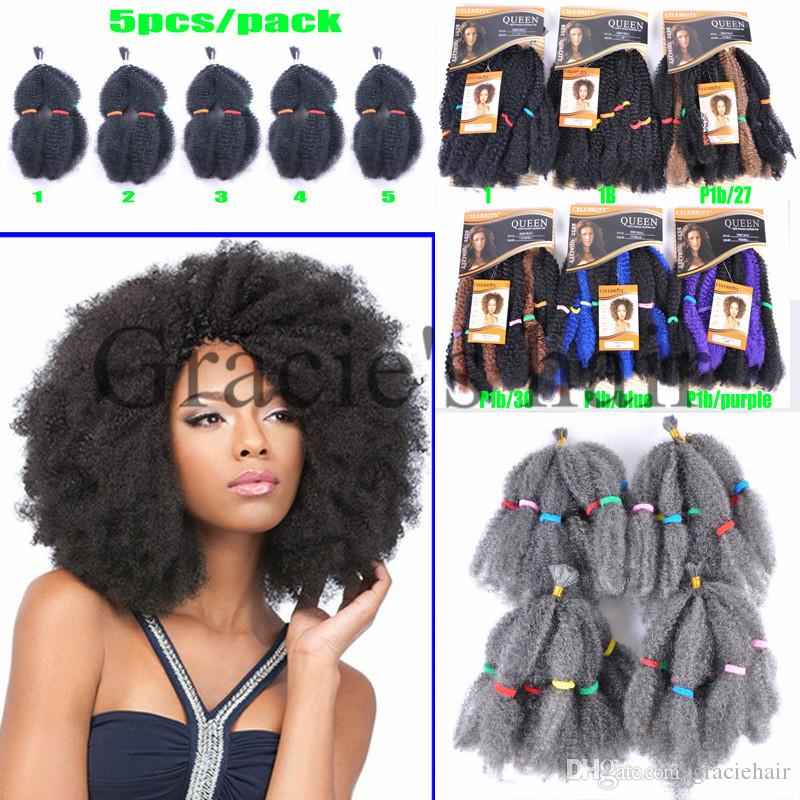 2018 12inch 100g Synthetic Hair Extensions Afro Kinky Bulk Braiding
