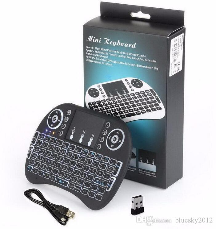 Rii I8 Smart Fly Air Mouse Remote Backlight 2.4GHz Wireless Bluetooth Keyboard Remote Control Touchpad For S905X S912 TV Android Box X96 T95