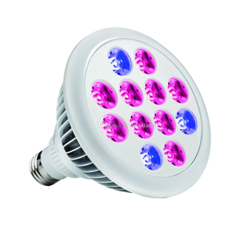 9 Red 3 Blue Hydroponic LED Grow Light 12W Par38 Indoor Plant Grow ...
