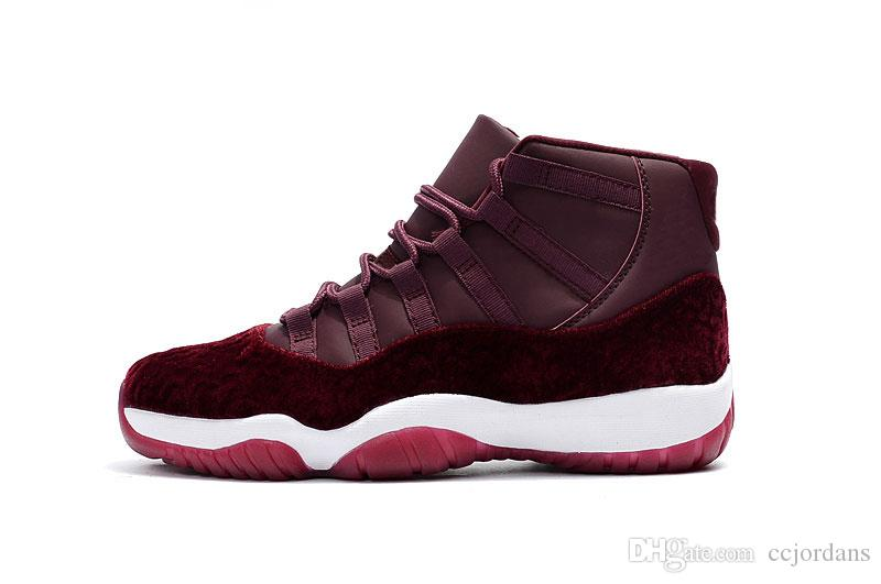08c7722e679b0b New 11 GS Women Basketball Shoes 11S Velvet Heiress Night Maroon Wine Red  For Mens High Quality Athletics Original Outdoor Sports Sneakers Basketball  Shoes ...