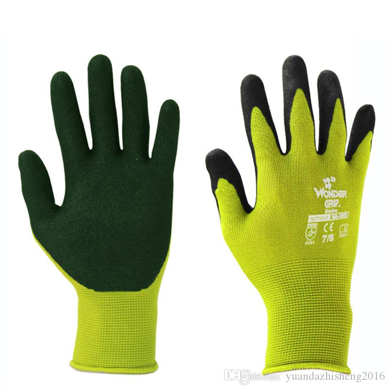 2018 Garden Gloves Rubber Gloves Plant Digging And Pruning Gloves
