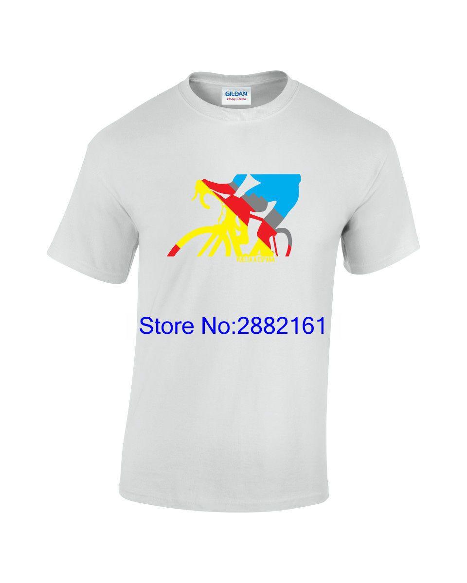 df74ab2fd9 Vuelta A Espana Cyclist Mens Printed Cyclinger T Shirt Men Brand Printed  100% Cotton T Shirt Ti Shirt Best T Shirt Sites From Beidhgate03