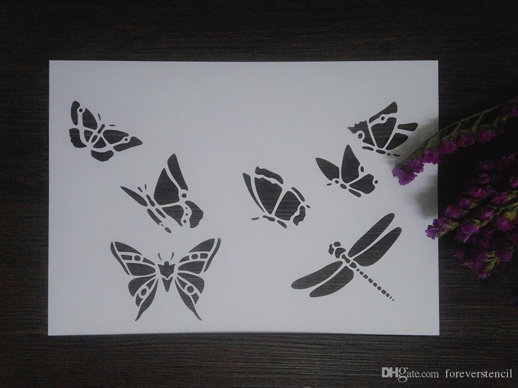 Satın Al Ucuz Beyaz Diy Böcek şablonlar Scrapbooking Için Maskeleme
