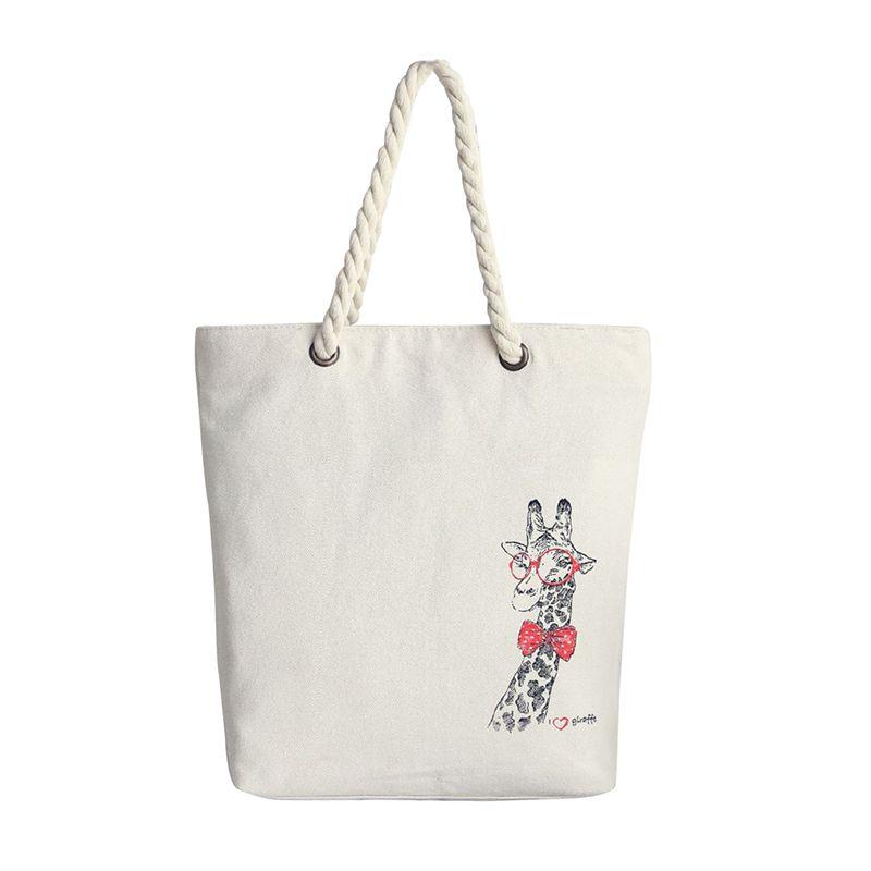 Wholesale 2016 Fashion Canvas Bags Rope Handle Women Handbags  Giraffe  Flower Fish Shoulder Bags Messenger Bag Casual Shopping Beach Bolsa Rosetti  Handbags ... 5f31ca4e88f98