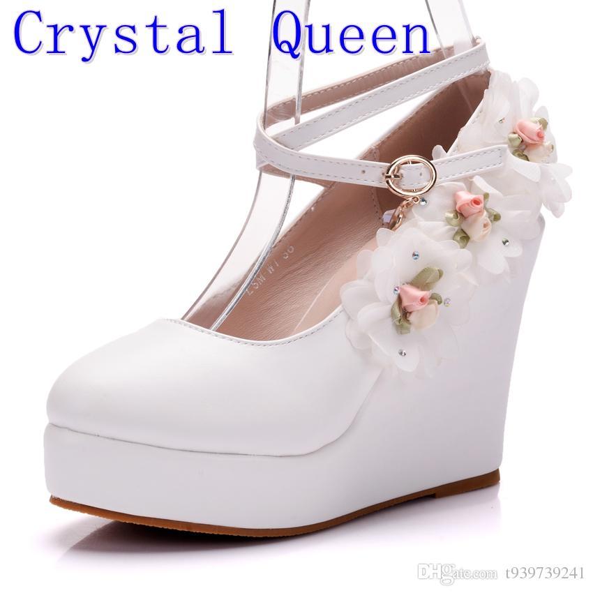 Zapatos Blanco Boda La Reina Cristal Compre De dqaAtd