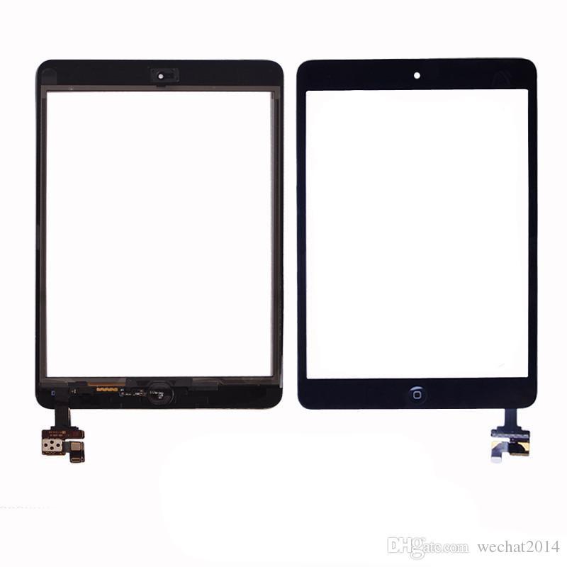 Pannello 100% dello schermo di tocco di vetro con digitalizzatore con i pulsanti ic connettore Mini iPad 2 in bianco e nero