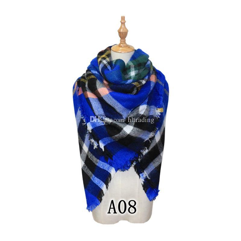 Schals Plaid Decke Schal Frauen Tartan Quasten Schal Grid Schal Gitter Muffler Mode Mädchen Winter Wraps 20 Farben 140 * 140 cm C2795
