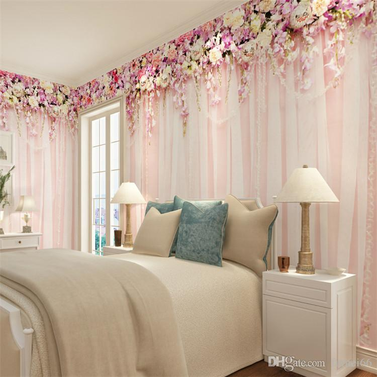 hot sale bridal bedroom wall wallpaper large and seamless mural is
