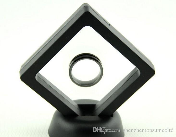 100 pçs / lote tesoura membrana elástica caixa de exibição de Jóias caixa de exibição de relógio caixa de suspensão 108x108x18mm