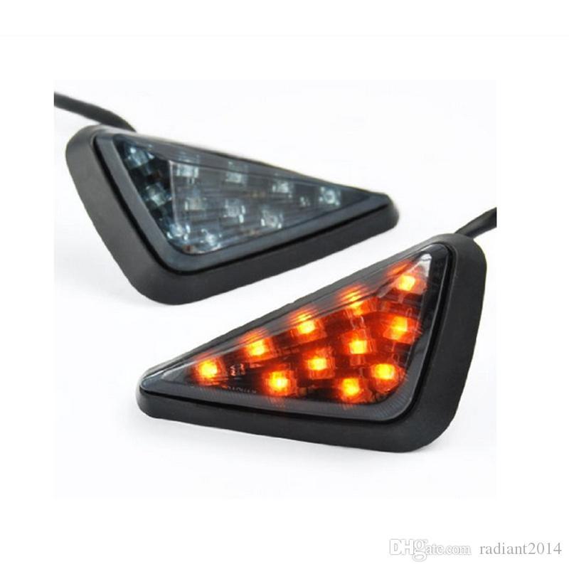 Motorcycle Turn Signal Lights Yellow 11 LED Turn Signal Bulb for Honda CBR600RR03-06 DC 12V motocicleta Ligero
