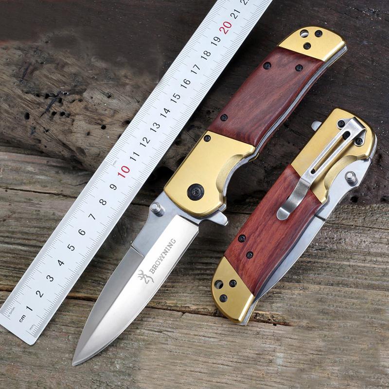 Браунинг складной нож Da69 из нержавеющей стали лезвие деревянной ручкой выживания тактические ножи DA69 быстро открыть кемпинг открытый инструменты EDC ручной инструмент
