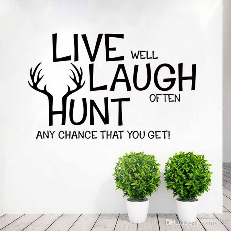Hot Sale Cool Graphics Live Laugh Inspirational Vinyl Art Wall Art Decals For Kids Room Decor Murals Creative Diy