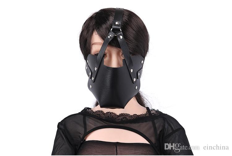 Head Harness SM Bondage Restraints Open Mouth Gag Sex Toys for Couples Silicone Gag Mask Fetish Slave Erotic ToysBall Gag Mask Firting Sex