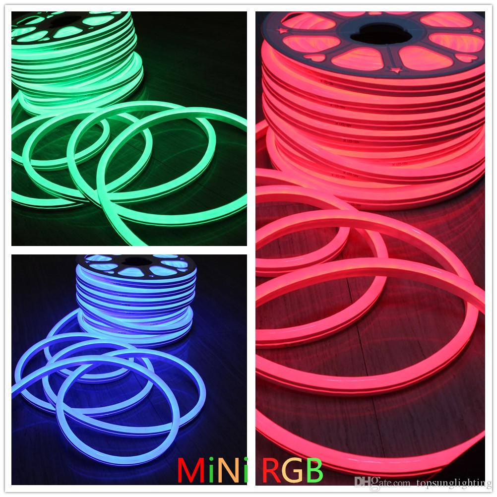 2019 10m Dc24v 14x26mm Rgb Led Neon Flex Smd5050 Flexible Electrical Wiring Outside Lights Rope Color Changeable Holiday Lighting Ip67 Outdoor