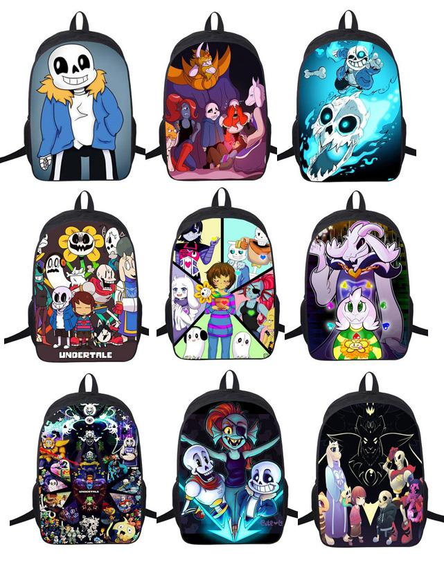 aed949bdbe48 Wholesale New Undertale Backpack Sans And School Backpacks Boys Girls Bag  Children School Bags Undertale Schoolbags Kids Gift Bag Leather Backpacks  One ...