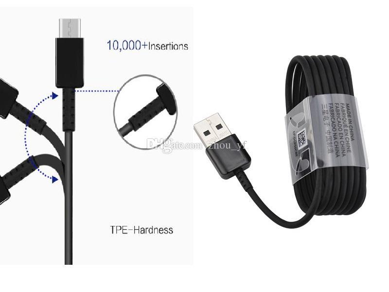 OEM A ++++ Schnelle Ladezeit 120 cm Echte S6 / S7 / S8 USB-Daten-Sync-Ladegerät-Kabel für Samsung Galaxy S6 S7, S8, S8 + EP-DG950CBE