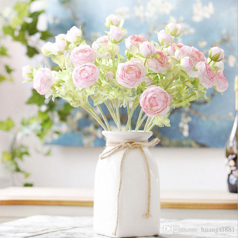 Nouvelle décoration de soie artificielle faux fleur nouvelle simulation fleur décoration de mariage accueil réunion hôtel décoration fleur de soie