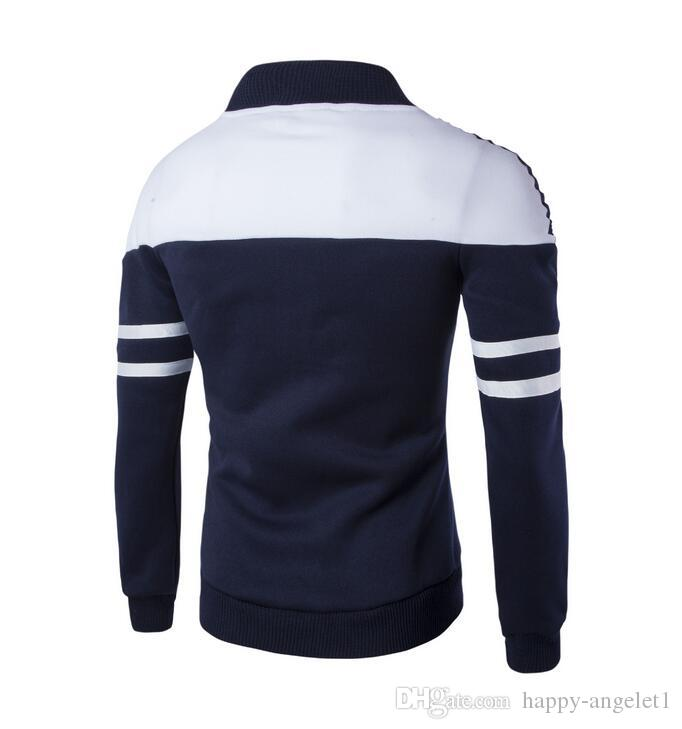 sell like hot cakes Foreign trade is really the original picture of men 's clothing jacket inlaid with ribbon design fashion sweater J02
