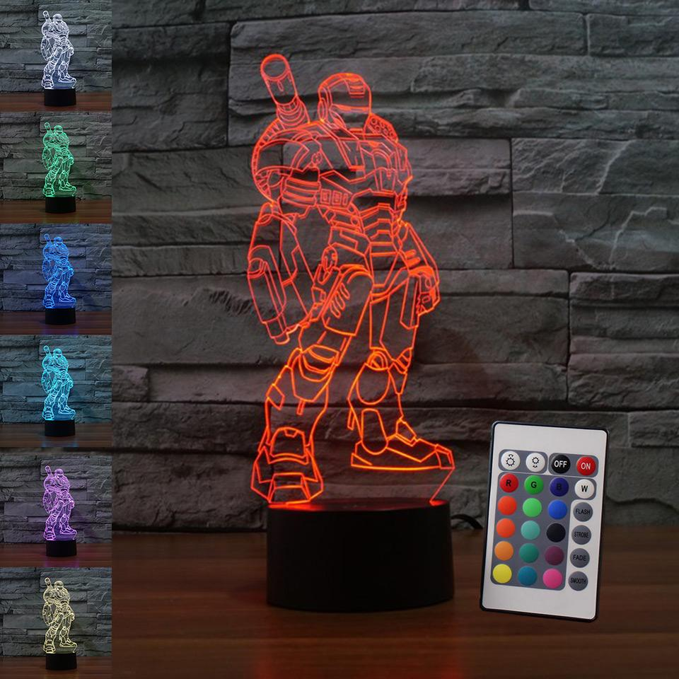 2018 New Upgrade Remote 3d Cool Cannon Iron Man Led Night Lamp Led 3d Usb  Desk Lamp As Kids Holiday Gift U0026 Deco Lighting From Joe_yang, $12.06 |  Dhgate.Com